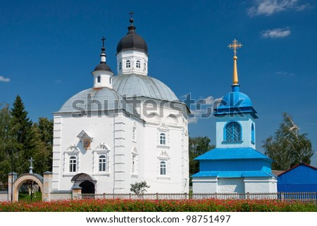 Church of the Nativity of Christ. Old Russian orthodox church in Russia