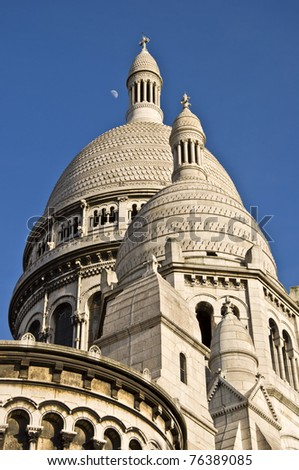 Church of the Sacre Coeur. A symbol of Paris.