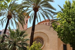 Church of the Sacred Heart, Elche. A beautiful old church in the old part of the city on the Plaza Espana.