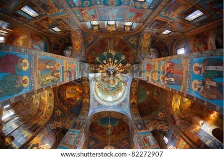 Church of the Savior on Blood. Interiors. - stock photo