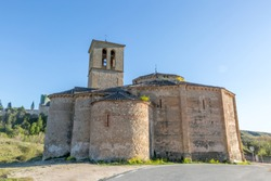 Church of the True Cross, of Romanesque style, was known in antiquity as the Holy Sepulcher. Catholic temple,Spain
