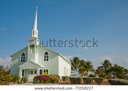 Church on Little Cayman Island
