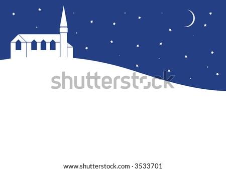 Church on moonlit night