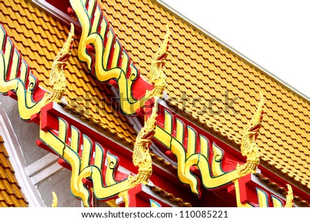 Church's traditional Thai roof