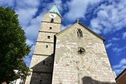 Church Saint Agidi in Bad Reichenhall town in Berchtesgadener Land in Germany