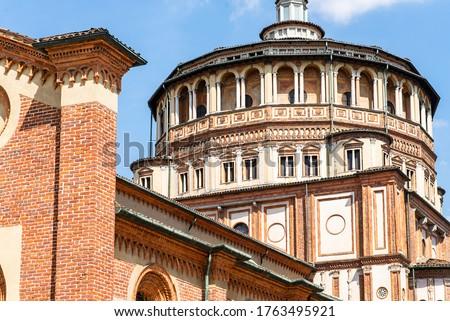 Church Santa Maria delle Grazie in Milan, Italy. The Home of 'The Last Supper'. ストックフォト ©