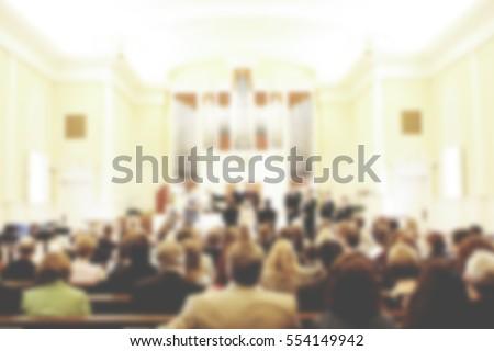 Shutterstock Church Service Blurred