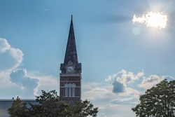Church spire in Knoxville, TN