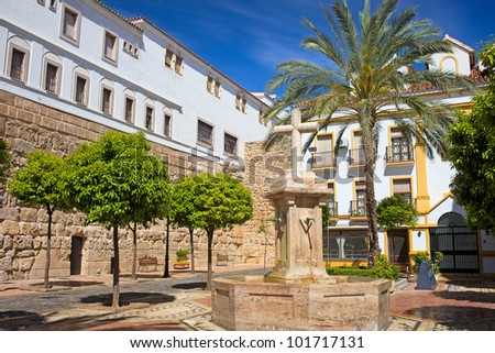 Church Square (Spanish: Plaza de la Iglesia) in the Old Town of Marbella, Spain, Andalusia region.