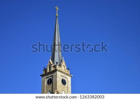 Church steeple Christian background