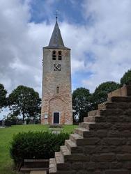 Church tower in Tsjerkebuorren, Friesland The Netherlands