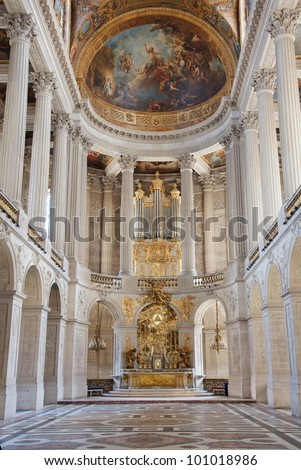 Church where he married Marie Antoinette and Louis XVI- Palace of Versailles near Paris