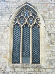 Church window in York, England.