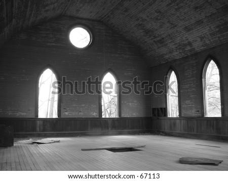 Church Window View
