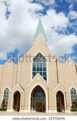 Church with pretty sky