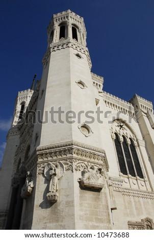 churche in Lyon, church in Lyon, France - stock photo