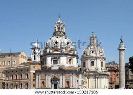 Churches with dome in Rome #150217106