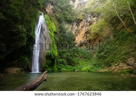 Chuveje waterfall in the Sierra Gorda Querétaro Foto stock ©