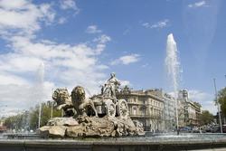 Cibeles Fountain at 20 degrees angle,