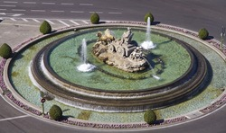 Cibeles Fountain in Madrid, Spain. One of the best known symbols of the city of Madrid