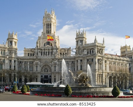 Cibeles Fountain Madrid Spain