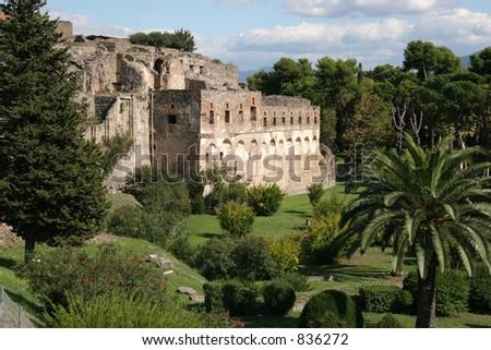 Cidade de Pompeii, Italy. As datas suportam antes de 79AD. - stock photo