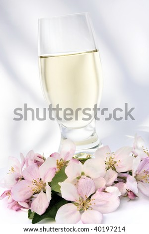 Cider and apple blossoms