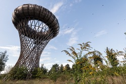Ciechanow water tower in Poland unusual tower