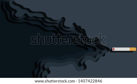 Cigarette and Papercut Background. Abstract Background Papercut 3D. Papercut Background.