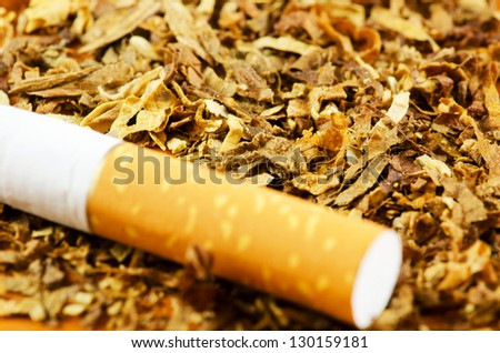 Cigarette and tobacco