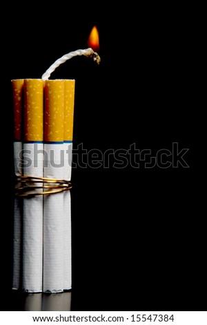 Cigarette Bomb - stock photo