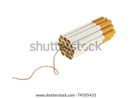 cigarette bomb isolate on white background - stock photo