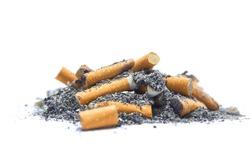 Cigarette butts and cigarette ash