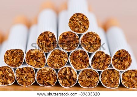 Cigarette close up
