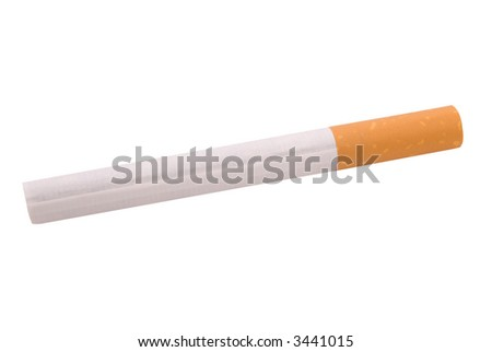 cigarette isolated over a white background - stock photo