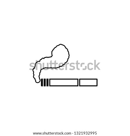 cigarette, smoke, fag, ciggy, butt, snout icon. Simple thin line, outline illustration of Ban icons for UI and UX, website or mobile application