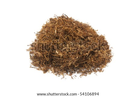 cigarette tobacco isolated on white