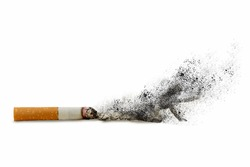 cigarettes and silhouette