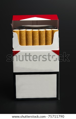 Cigarettes pack with empty space