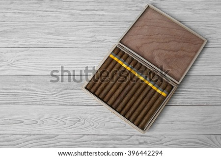 Cigars in the cigar box #396442294