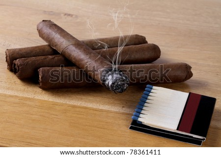 cigars with matches