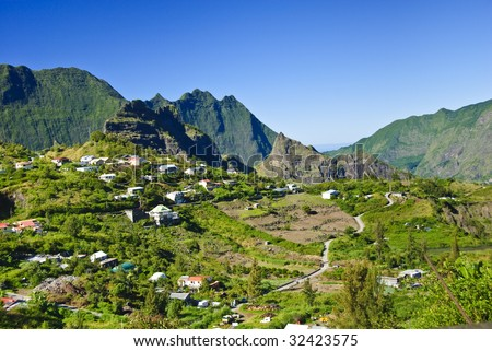 Cilaos, La Reunion Island, Indian Ocean - stock photo
