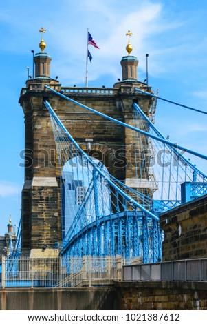 cincinnati's bridge urban city...