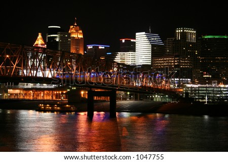 Cincinnati Skyline From Newport