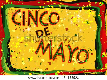 Cinco de Mayo celebration sign