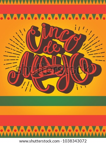 cinco de mayo poster template hand lettering and typography with