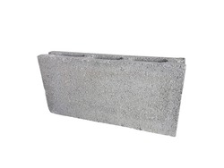 Cinder block, concrete block, breeze block, Cement block isolated on a white background.