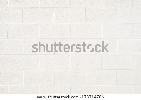 Cinderblock Wall Painted Off White ストックフォト ©