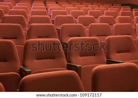 cinema and red seats rows #109172117