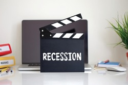 Cinema Clapper with Recession word